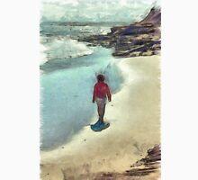 Woman Walking on the Beach PEI Unisex T-Shirt