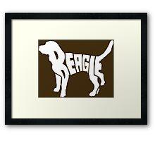 Beagle White Framed Print