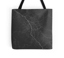 Liberec, Czech Republic Map. (White on black) Tote Bag