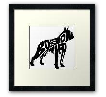 Boston Terrier Black Framed Print