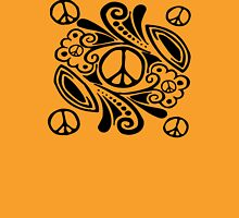 Peace Symbol Love Flower Womens Fitted T-Shirt