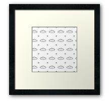 UFO Pattern Framed Print