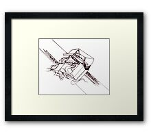 Multi Dimensional Abstract Ink  Framed Print