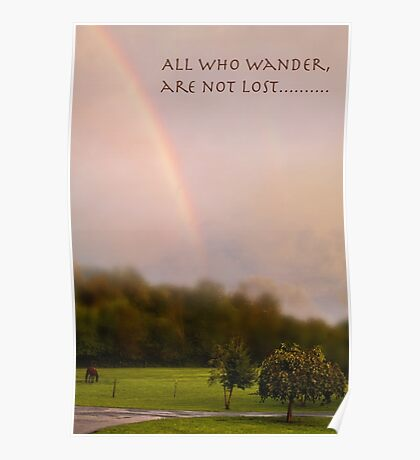 All who wander Poster