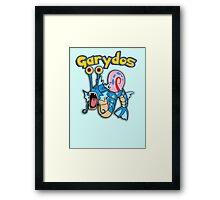 Gary the snail and Gyarados  mashup = Garydos Framed Print