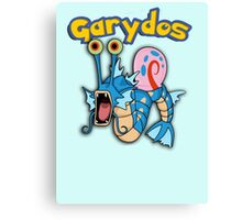 Gary the snail and Gyarados  mashup = Garydos Canvas Print