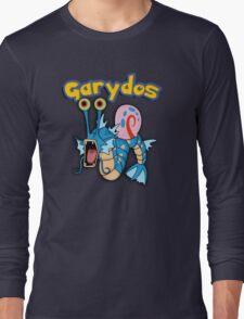 Gary the snail and Gyarados  mashup = Garydos Long Sleeve T-Shirt