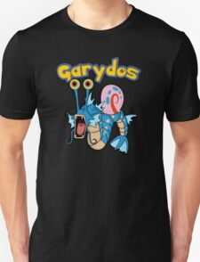Gary the snail and Gyarados  mashup = Garydos T-Shirt