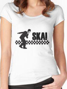 Ska Music Stencil Women's Fitted Scoop T-Shirt