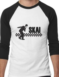 Ska Music Stencil Men's Baseball ¾ T-Shirt