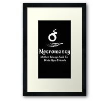 Dungeons and Dragons Necromancy  Framed Print