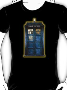 Space And Time traveller Box With yellow stained glass T-Shirt