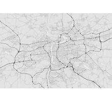 Prague, Czech Republic Map. (Black on white) Photographic Print