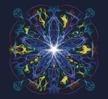Energetic Geometry - moonlight flower bloom by Leah McNeir