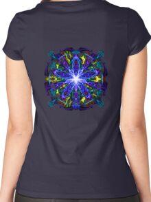 Energetic Geometry - moonlight flower bloom Women's Fitted Scoop T-Shirt