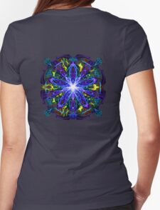 Energetic Geometry - moonlight flower bloom Womens Fitted T-Shirt
