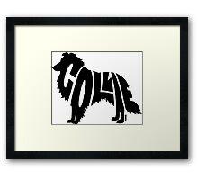 Collie Black Framed Print