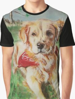 Dog in Summer Graphic T-Shirt