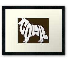 Collie White Framed Print