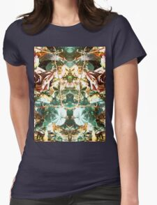 Mirrored Flowers Womens Fitted T-Shirt