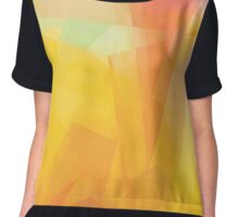 Sunny Side Up abstract art  Chiffon Top