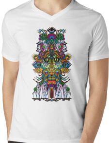 psychedelic illustration Mens V-Neck T-Shirt