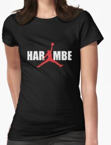 harambe x jordan Womens Fitted T-Shirt