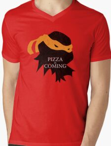 Pizza is Coming Mens V-Neck T-Shirt