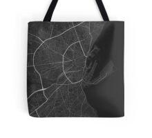 Aarhus, Denmark Map. (Black on white) Tote Bag