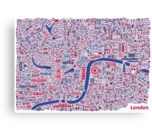 London City Map Poster Canvas Print