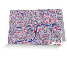 London City Map Poster Greeting Card