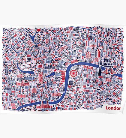 London City Map Poster Poster