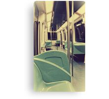 Empty subway Canvas Print