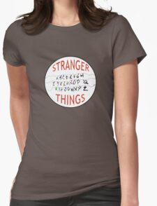 Stranger Things Christmas Alphabet (version two w/ extended wires) Womens Fitted T-Shirt