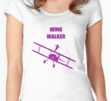 wing walker Women's Fitted Scoop T-Shirt