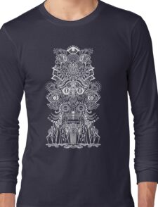 psychedelic illustration in black Long Sleeve T-Shirt
