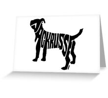 Jack Russel Black Greeting Card