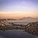 .. an evening view on the Bay of Naples and the famous volcano Vesuvius by Rachel Veser