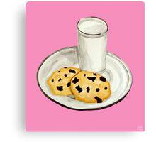 Milk & Cookies Canvas Print
