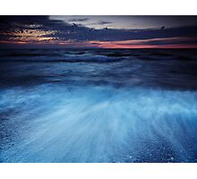 Colorful dramatic twilight scenery of lake Huron art photo print Photographic Print