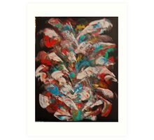 Multi-colored abstract Art Print