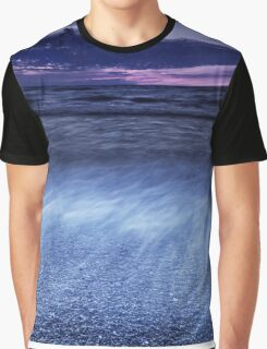 Dramatic sunset scenery of lake Huron art photo print Graphic T-Shirt
