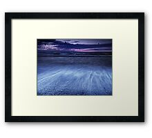 Dramatic sunset scenery of lake Huron art photo print Framed Print