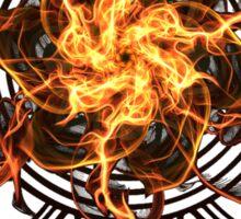Energetic Geometry - Fire Spinner Bloom  Sticker