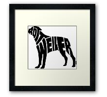 Rottweiler Black Framed Print