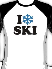 I love Ski snow T-Shirt