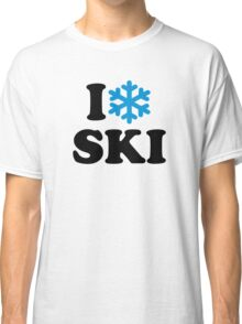 I love Ski snow Classic T-Shirt