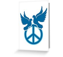 Doves of Peace on  pacific sign Greeting Card