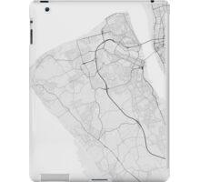 Birkenhead, England Map. (Black on white) iPad Case/Skin