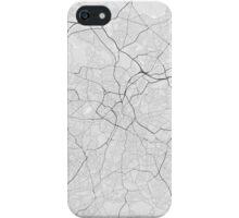 Birmingham, England Map. (Black on white) iPhone Case/Skin